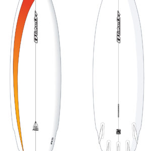 take off 7ft rocket fish surfboard